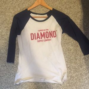 Dimond Supply Company, white and blue tee.